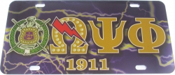 View Buying Options For The Omega Psi Phi Printed Symbol Shield Mirror License Plate