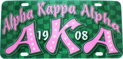 View Buying Options For The Alpha Kappa Alpha Printed Graphic License Plate