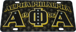 View Buying Options For The Alpha Phi Alpha Printed Graphic License Plate
