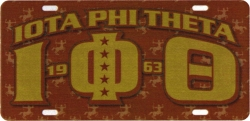 View Buying Options For The Iota Phi Theta Printed Graphic License Plate