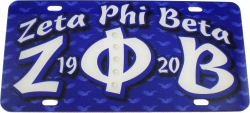 View Buying Options For The Zeta Phi Beta Printed Graphic License Plate