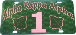 View Buying Options For The Alpha Kappa Alpha Printed Graphic Raised Line #1 License Plate