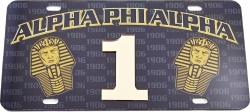 View Buying Options For The Alpha Phi Alpha Printed Graphic Raised Line #1 License Plate