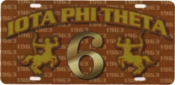 View Buying Options For The Iota Phi Theta Printed Graphic Raised Line #6 License Plate