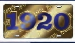 View Buying Options For The Zeta Phi Beta 1920 Ghost Back Letters Car Tag License Plate