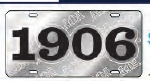 View Buying Options For The Alpha Phi Alpha 1906 Ghost Back Letters Car Tag License Plate