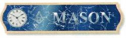 View Buying Options For The Mason Domed Letters Wood Plaque Wall Clock
