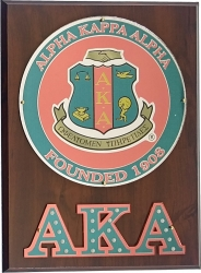 View Buying Options For The Alpha Kappa Alpha Circle Crest Wooden Wall Plaque