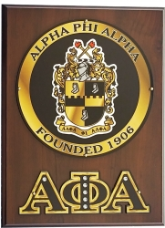 View Buying Options For The Alpha Phi Alpha Circle Shield Wooden Wall Plaque