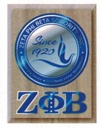 View Buying Options For The Zeta Phi Beta Circle Crest Wooden Wall Plaque