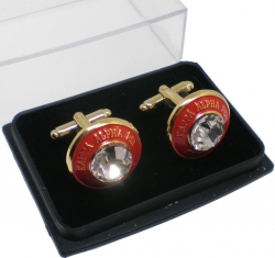 View Buying Options For The Kappa Alpha Psi Diamond Cut Signet Stone Mens Cuff Links