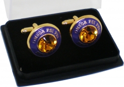 View Buying Options For The Omega Psi Phi Diamond Cut Signet Stone Mens Cuff Links