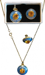 View Buying Options For The Sigma Gamma Rho Diamond Cut Signet Stone Lapel Pin and Necklace Set