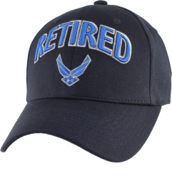 View Buying Options For The U.S. Air Force Logo Retired Extreme Embroidery Stretch Fit Mens Cap