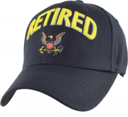 View Buying Options For The Navy Logo Retired Extreme Embroidery Stretch Fit Mens Cap