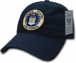 View Buying Options For The RapDom Air Force Round Logo Relaxed Cotton Mens Cap