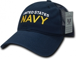 View Buying Options For The RapDom United States Navy Text Relaxed Trucker Mens Cap
