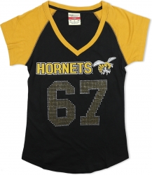 View Buying Options For The Alabama State Hornets S2 Rhinestone Ladies Tee