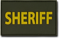View Buying Options For The RapDom Sheriff Text Rubber H&L Velcro-Back Patch [Pre-Pack]