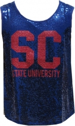 View Buying Options For The South Carolina State University Ladies Sequins Tank Top
