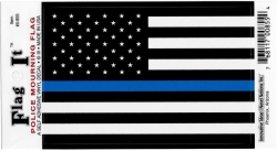View Buying Options For The United States Thin Blue Line Flag Car Decal Sticker [Pre-Pack]