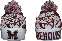 View Buying Options For The Big Boy Morehouse Maroon Tigers S8 Mens Beanie with Ball