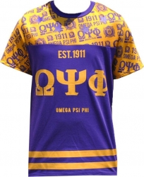 View Buying Options For The Big Boy Omega Psi Phi Divine 9 Mens Sublimation Jersey Tee