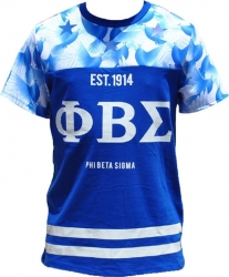 View Buying Options For The Phi Beta Sigma Divine 9 Mens Sublimation Jersey Tee