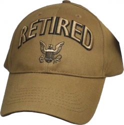 View Buying Options For The Retired w/Navy Logo Mens Cap