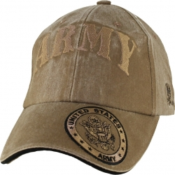 View Buying Options For The Army w/Seal On Bill Logo Washed Mens Cap