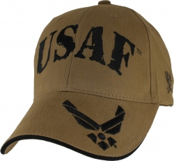 View Buying Options For The USAF w/Wings On Bill Logo Mens Cap
