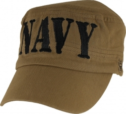 View Buying Options For The Navy Block Letters Flat Top Mens Cap
