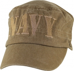 View Buying Options For The Navy Block Letters Flat Top Washed Mens Cap