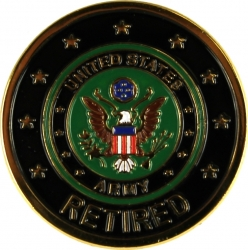 View Buying Options For The Army Retired Round Lapel Pin