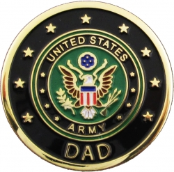 View Buying Options For The Army Dad Round Lapel Pin
