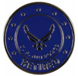 View Buying Options For The Air Force Retired w/Wings Round Lapel Pin