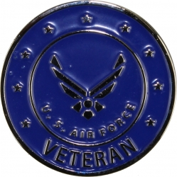 View Buying Options For The Air Force Veteran w/Wings Round Lapel Pin