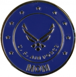 View Buying Options For The Air Force Mom w/Wings Round Lapel Pin