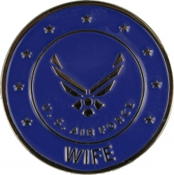 View Buying Options For The Air Force Wife w/Wings Round Lapel Pin