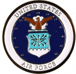 View Buying Options For The Air Force Emblem Round Lapel Pin