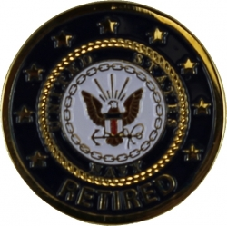 View Buying Options For The US Navy Retired Lapel Pin