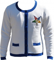 View Buying Options For The Big Boy Eastern Star Divine Heavy Weight Ladies Cardigan