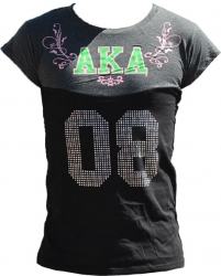 View Buying Options For The Alpha Kappa Alpha Rhinestone Divine 9 S2 Ladies Tee
