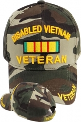 View Buying Options For The Disabled Vietnam Veteran Ribbon Mens Cap