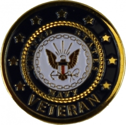 View Buying Options For The US Navy Veteran Lapel Pin