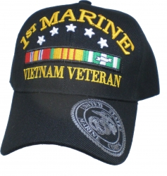 View Buying Options For The 1st Marine Division Vietnam Veteran Ribbon Mens Cap