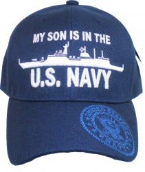 View Buying Options For The My Son Is in the U.S. Navy w/Battle Cruiser Mens Cap