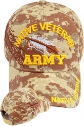 View Buying Options For The Native American Army Veteran Shadow Mens Cap
