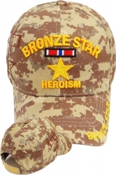 View Buying Options For The Bronze Star of Heroism Medal Shadow Mens Cap
