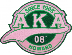 View Buying Options For The Alpha Kappa Alpha Chenille Tail Sew-On Patch